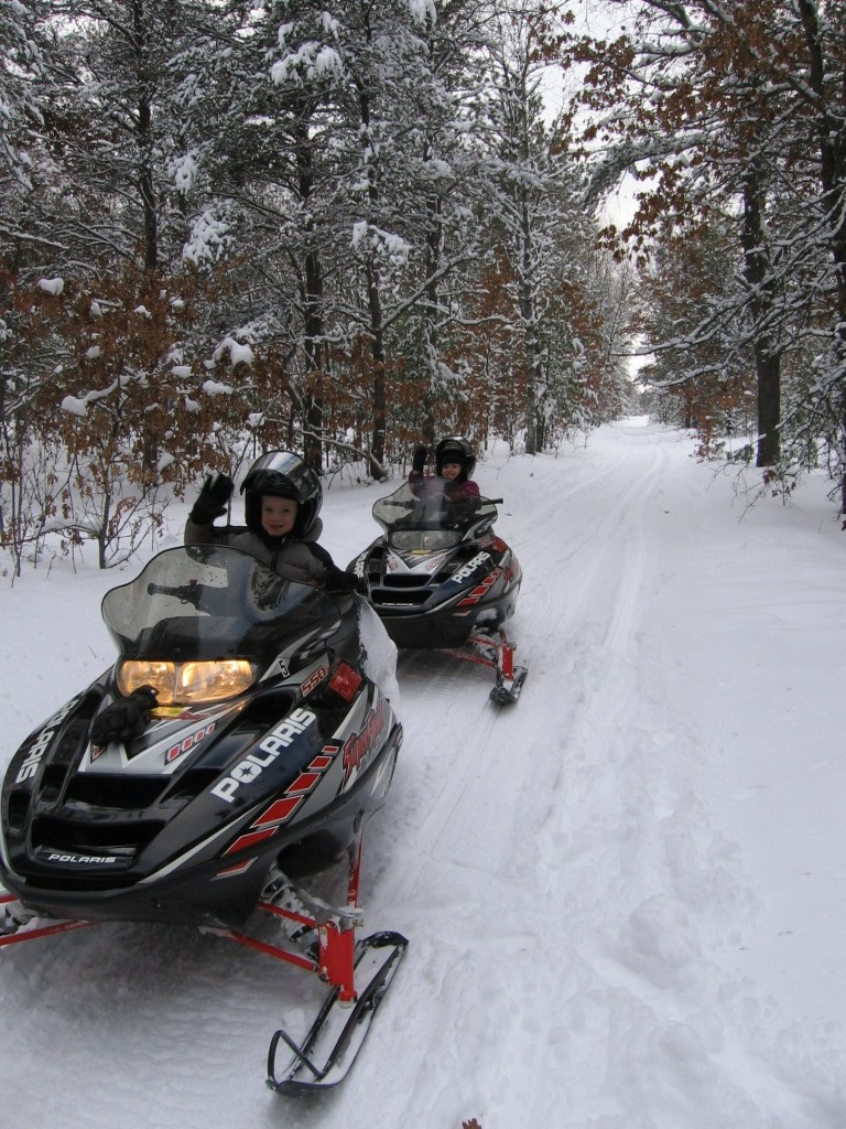 Snowmobiling in Grayling MI