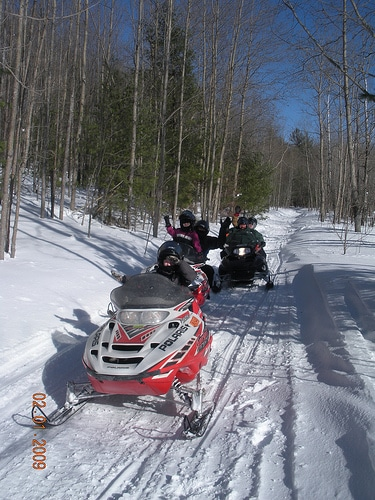 1/4 Snowmobiling