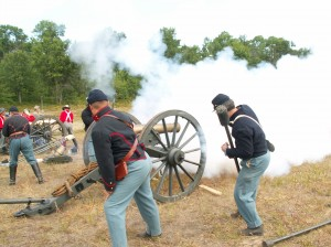 Cannon firing photo by Dave Schmidt