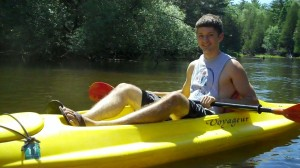 kayaking on the AuSable River
