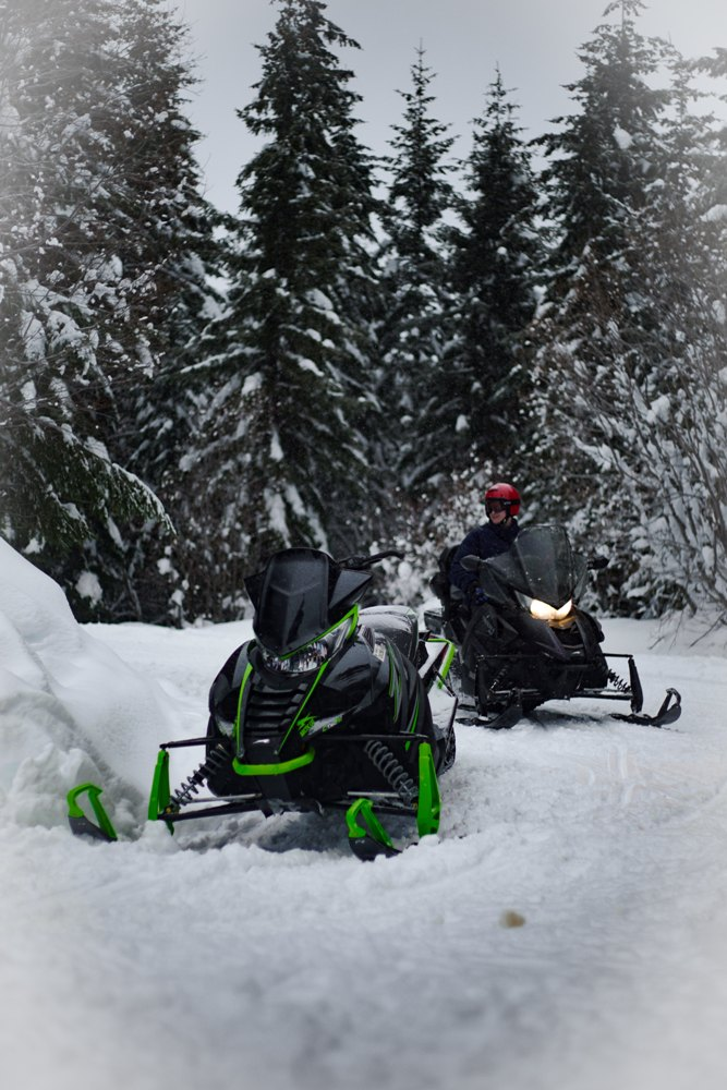 Snowmobile trail conditions 1/3