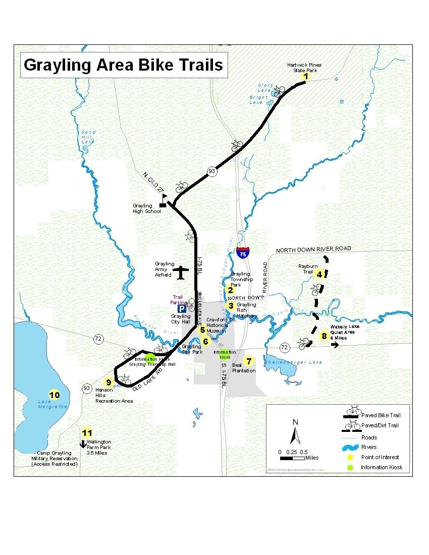 Biking In Grayling MI Grayling Visitors Bureau - Us 36 bike path map