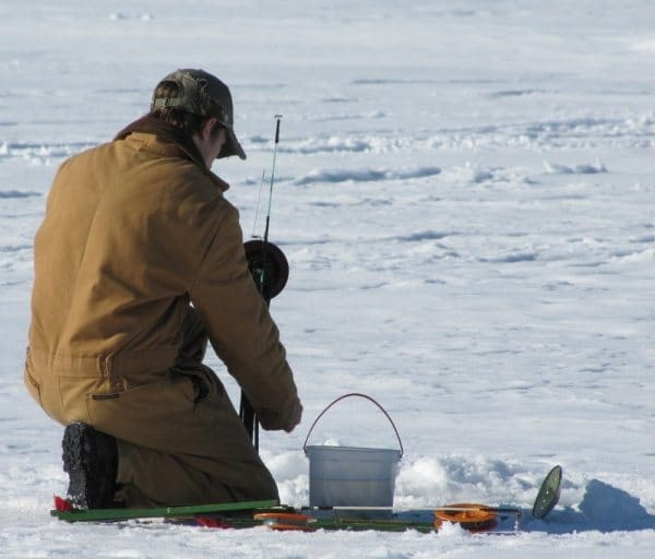 Ice fishing in the Grayling Area, Photographer Justin Andre