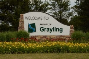 City of Grayling sign by Lisa Oliver