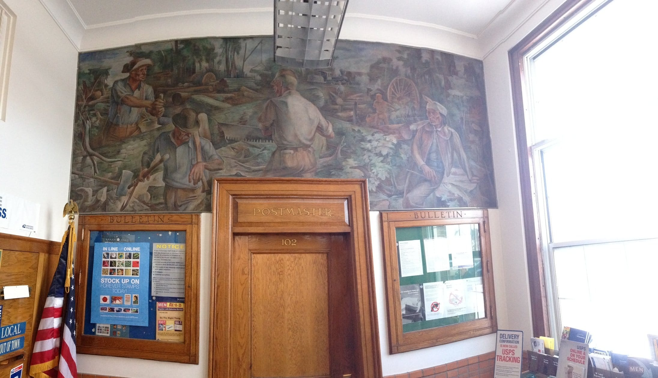 post office mural in grayling mi grayling visitor 39 s bureau. Black Bedroom Furniture Sets. Home Design Ideas